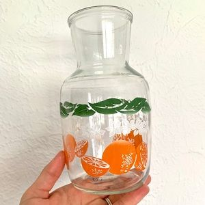 Vintage Glass Juice Container